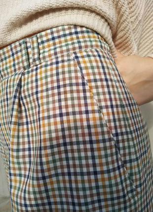 Шорти кюлоти бріджі шорты кюлоты бриджи винтаж в клетку класси...