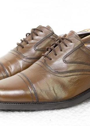 Туфли мужские кожаные clarks размер 45-46 стелька 30,7 см