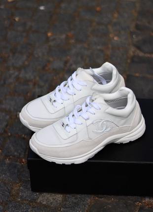 Женские кроссовки Chanel Sneakers White(36-40р)