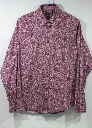 Рубашка мужская jeff banks  размер l состояние отличное грудь