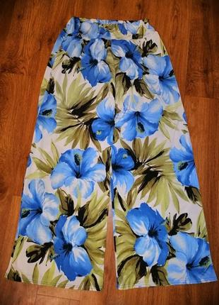 🌺🎀🌺стильные, яркие женские легкие брюки, штаны, кюлоты high & ...