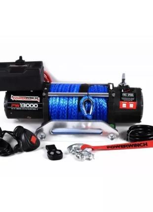 Лебедка электрическая Powerwinch PW13000 12V с синтет. тросом