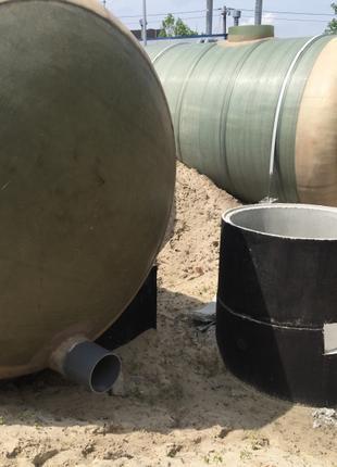 Пожарная емкость 100 м/куб. Резервуар запаса воды стеклопластик