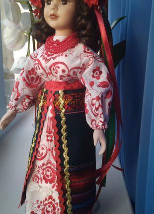кукла фарфор украинка 40 см