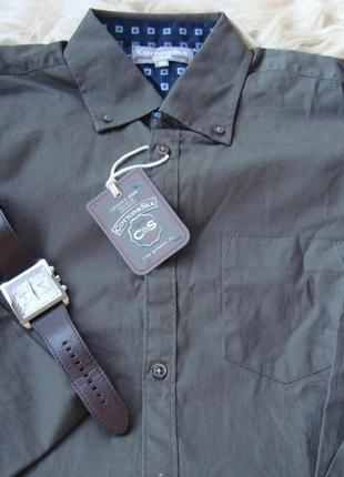Рубашка мужская, C&S, Италия темно синего цвета, котон 97%. Разме