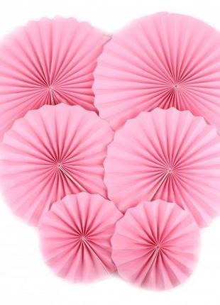 Набор бумажных вееров для декора