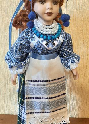 кукла сувенир украинка фарфор 40 см