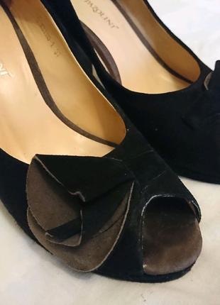 Черные замшевые туфли Carlo Pazolini