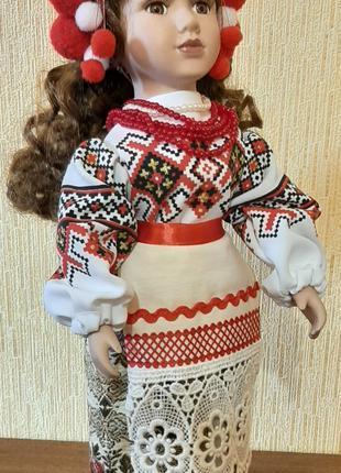 Кукла фарфоровая сувенирная 43 см фарфор