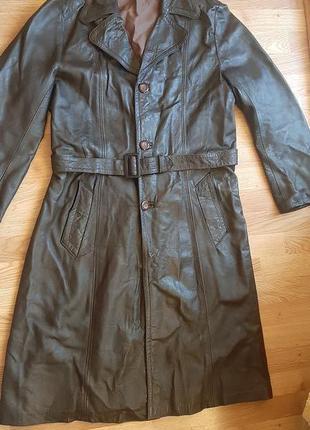 Пальто, плащ натуральная кожа