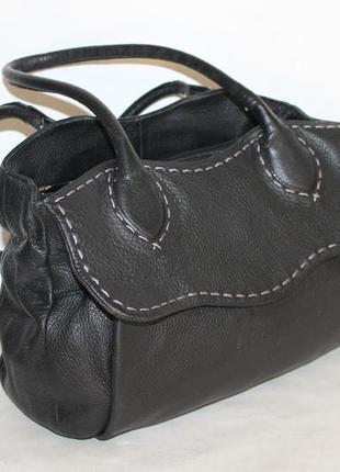 Вместительная кожаная сумка от radley 100% натуральная кожа