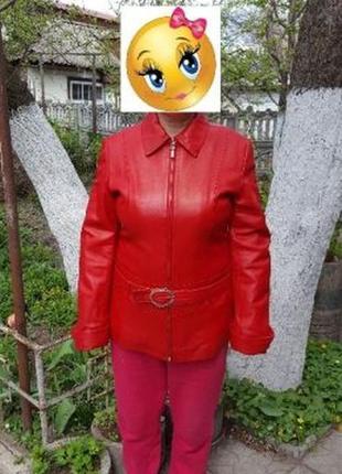 Новая кожаная куртка Pelluria Red