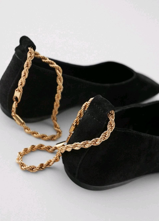 ZARA шкіряні(замш)туфли