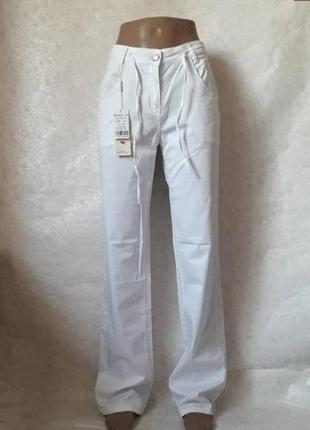 Новые с биркой стильные нарядные белоснежные брюки/джинсы, раз...