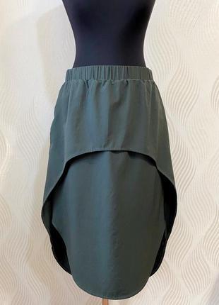 Стильная шерстяная юбка необычного кроя cos