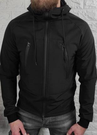 Куртка мужская soft shell черная / куточка чоловіча софтшелл н...