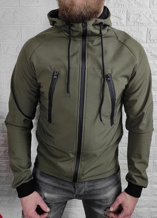 Куртка мужская soft shell хаки / куточка чоловіча софтшелл не ...