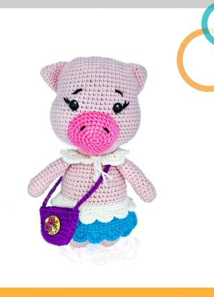 Хрюша, поросенок, хрюня, свинка, іграшка вязана, мягкая игрушка