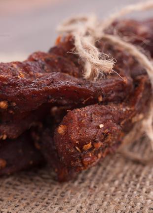 Джерки (jerky) зі свинини/курятини. В'ялене м'ясо. Снеки.