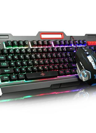 Игровая клавиатура с мышкой и LED RGB подсветкой UKC K33