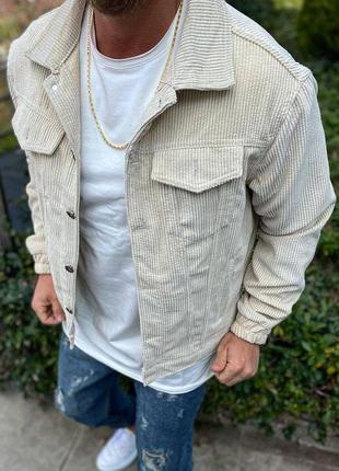Куртка мужская короткая вельветовая серая / курточка чоловіча ...