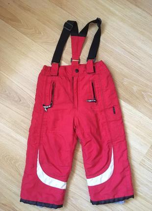 Теплые лыжные штаны полукомбинезон италия