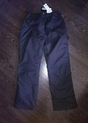 Теплые фирменные штаны полукомбинезон