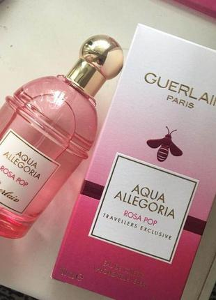 Guerlain aqua allegoria rosa pop туалетная вода 100 ml - оригинал