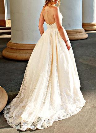 Вечернее\свадебное  кружевное платье
