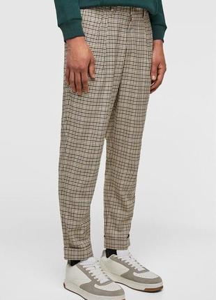 Мужские брюки в клетку zara zara