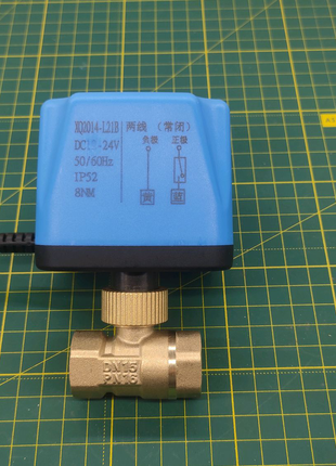 Кран шаровый 1/2 с электроприводом 24 вольта