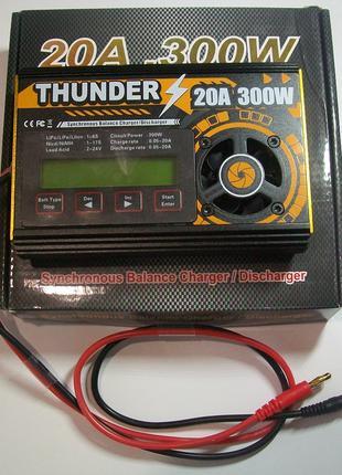 THUNDER 300W 20A зарядное устройство LIPO LIION LIFE PB акб