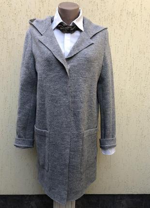 Шерсть100%,кардиган с капюшоном,тонкое пальто,кофта