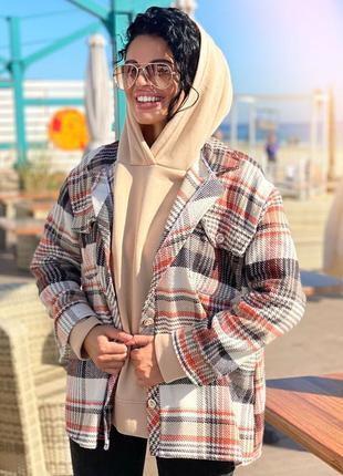 Пальто-рубашка оверсайз в стиле zara👍тренд сезона👍