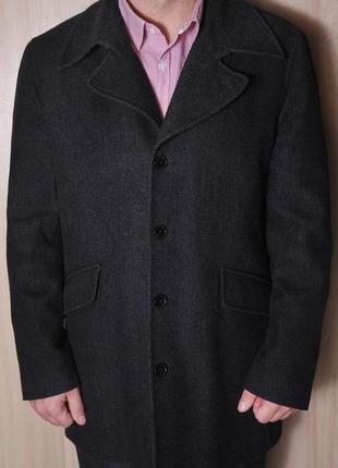 Полу шерстяное пальто navyboot