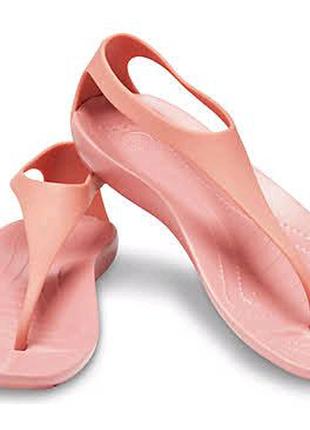 Оригинальные новые женские сандалии Crocs Sexi Flip w9