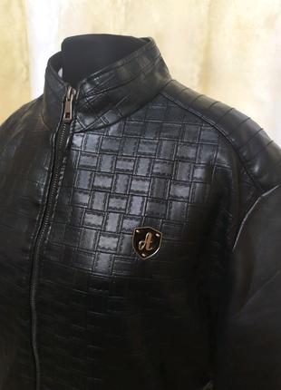 Куртка кожанка демисезонная мужская, на подростка