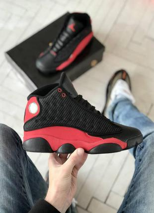 Мужские кроссовки nike air jordan 13 retro black red 40-41-42-...