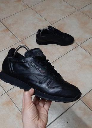 Кожаные кроссовки reebok (рибок) classic leather