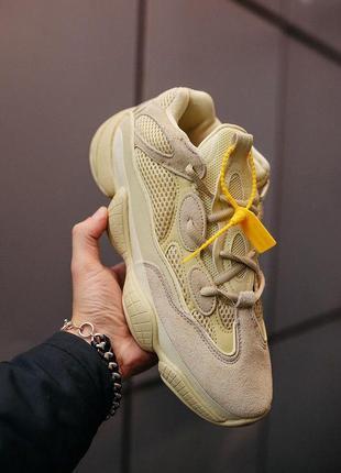 """Бомбезные кроссовки 💪adidas yeezy 500 «super moon yellow""""💪"""