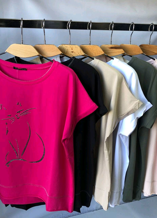 Женская футболка размер 52-58 цвета