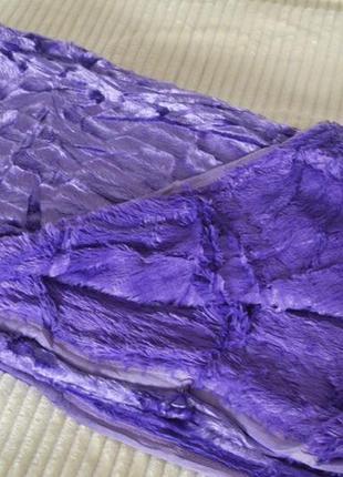 Шикарный плед норка фиолетовый