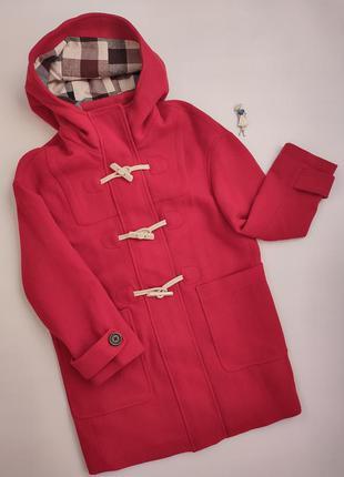 Эффектное красное шерстяное оверсайз пальто only,  p-p m