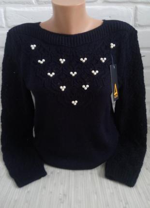 Вязаный женский свитер нарядный свитер теплый свитер