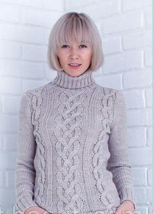 Свитер теплый вязаный с горлом#свитер гольф#свитер женский
