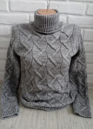 Свитер вязаный с горлом# свитер гольф#свитер женский