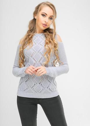 Ажурный вязаный свитер# свитер с оригинальным рукавом#молодежн...