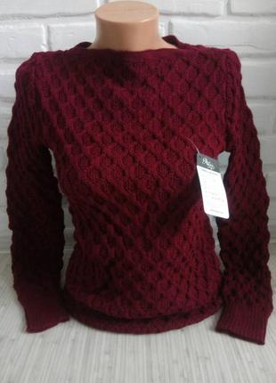 Стильный вязаный свитер# молодежный свитер