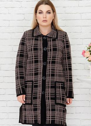 Кардиган вязаный женский кардиган пальто большого размера разн...