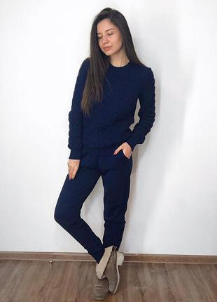 Вязаный костюм брюки плюс свитер